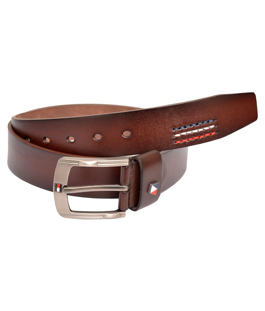 Double F Brown Casual Belt