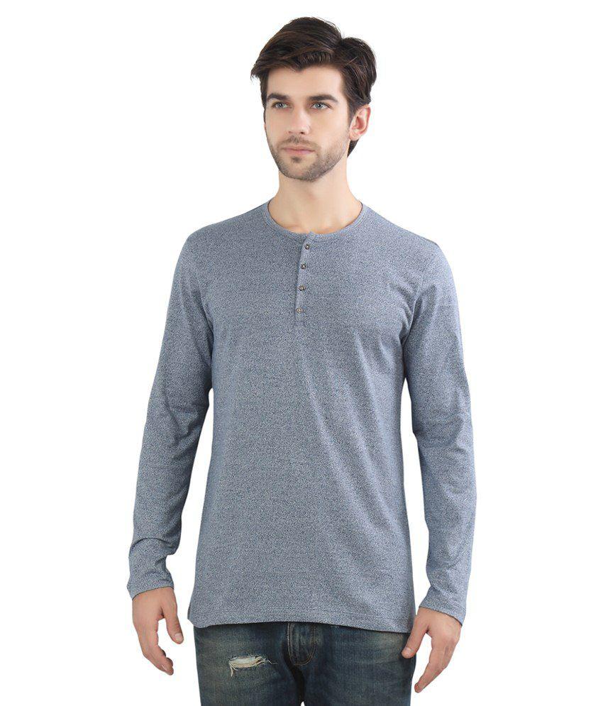Maniac Blue Cotton Blend T Shirt