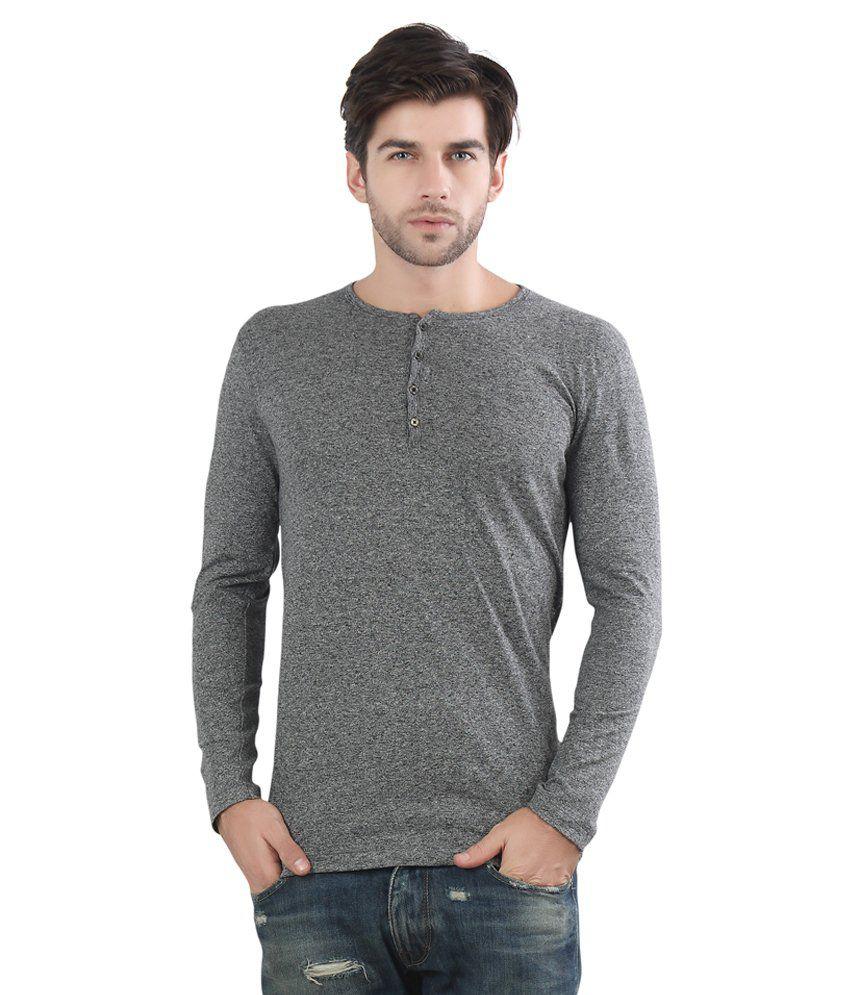 Maniac Grey Cotton Blend T Shirt