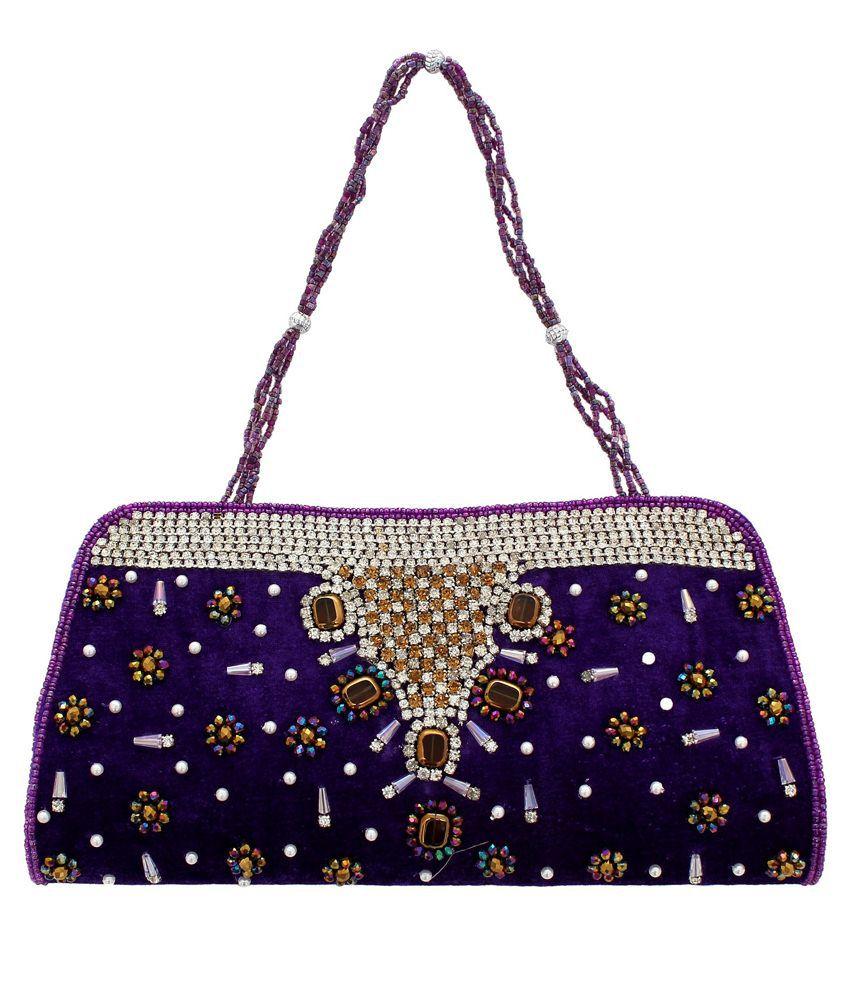 Youth Mantra Purple Clutch