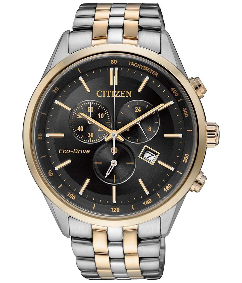 citizen silver strap two tone formal analogue wrist watch for men