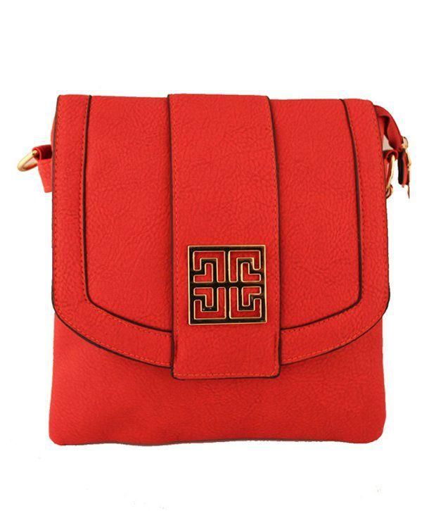 Damit Red P.U. Sling Bag
