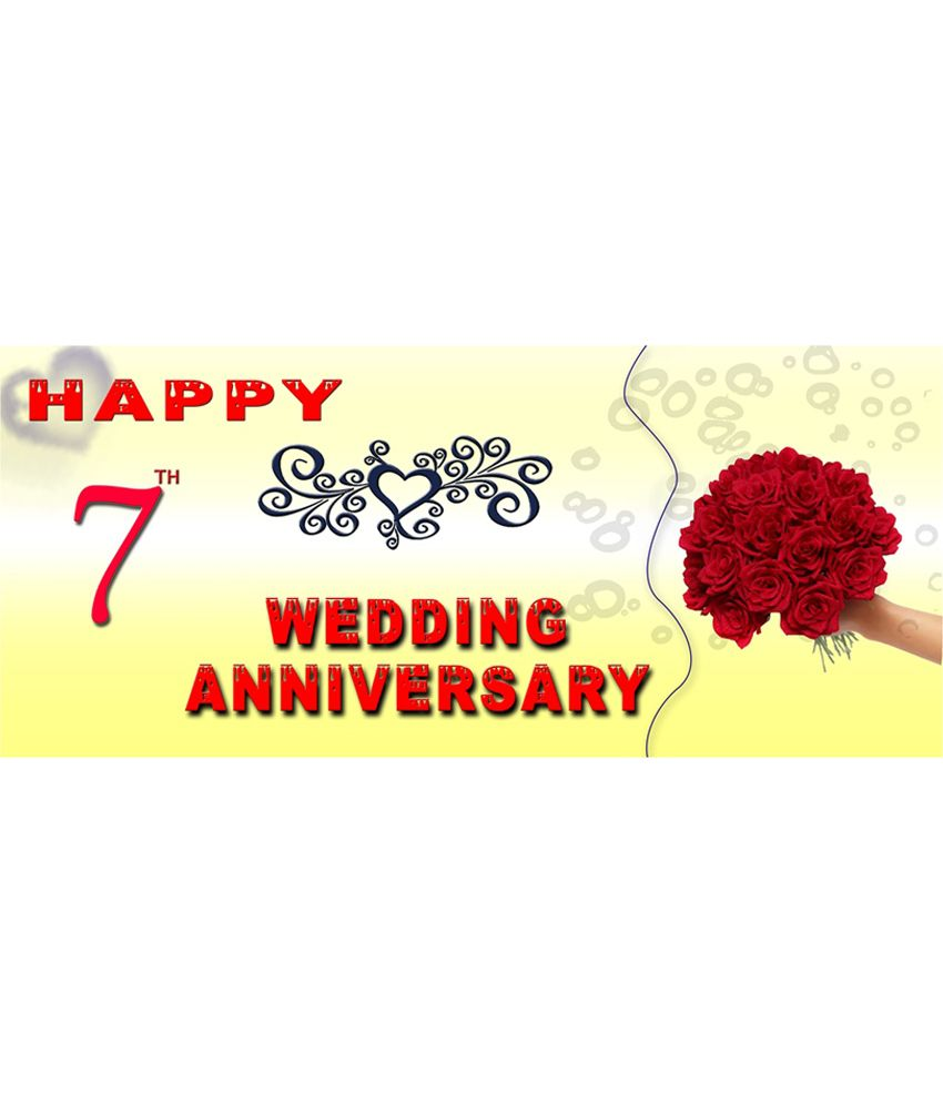 7th Wedding Anniversary.Efw Happy 7th Wedding Anniversary Printed Ceramic Coffee Mug