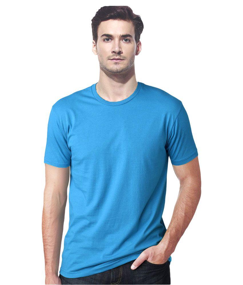 Gallop Blue Cotton T Shirt Buy Gallop Blue Cotton T
