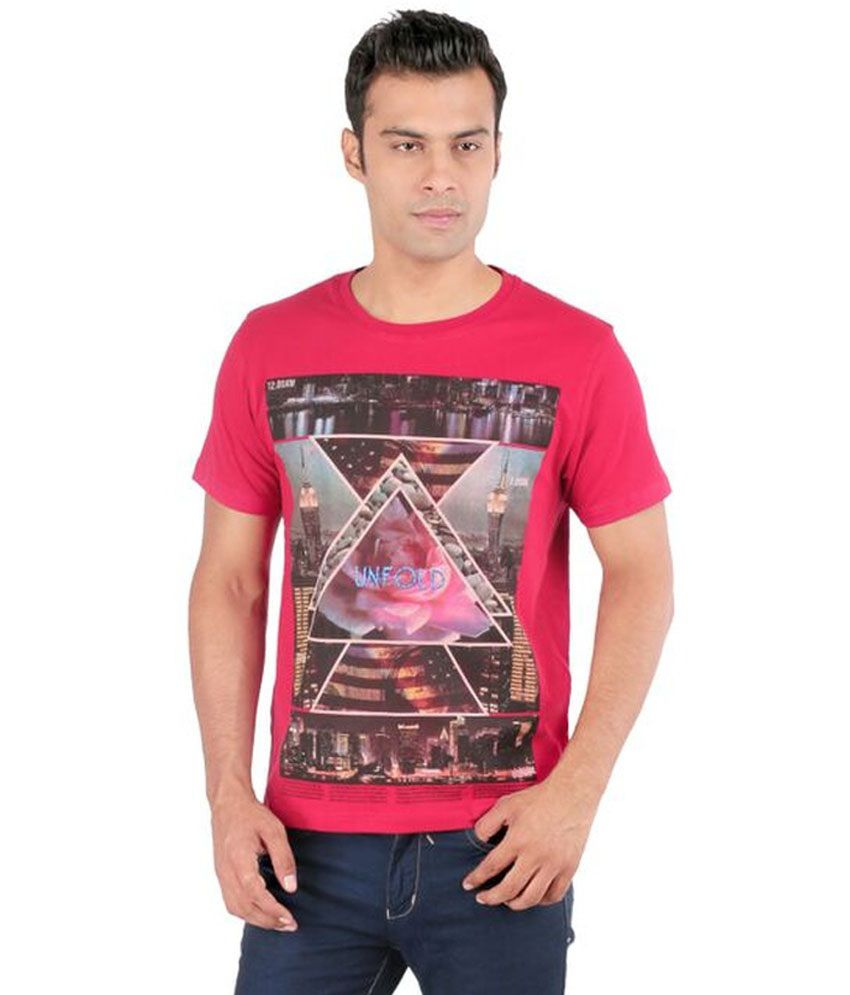 Ice Finger Red Cotton T Shirt
