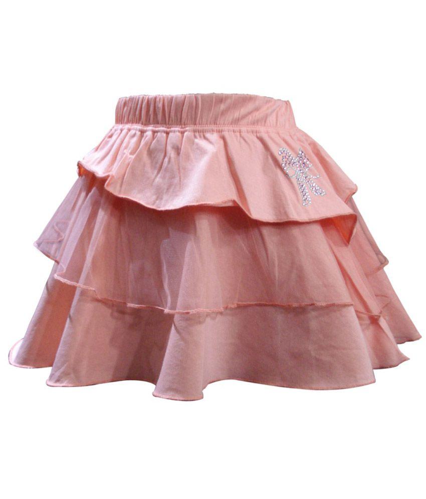 Kothari Peach Skirt For Girls