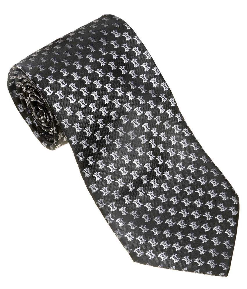 Picador Black Satin Narrow Ties