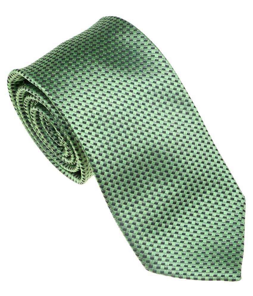 Picador Green Satin Narrow Ties