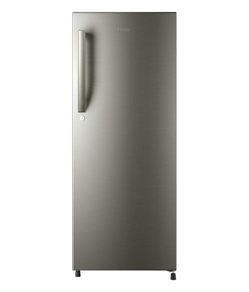 Haier 195 Ltr 5 Star HRD-2157BS-R Single Door Refrigerator - Brushline Silver