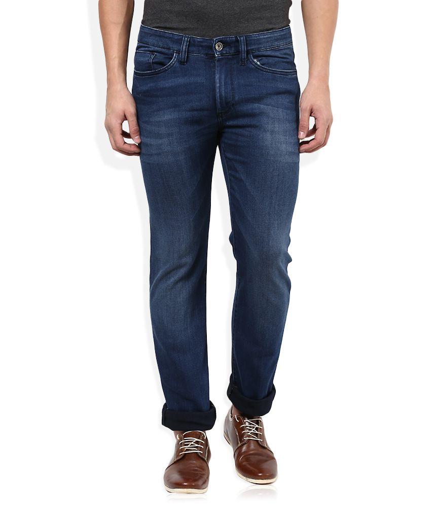 Celio Blue Dark Wash Slim Fit Jeans
