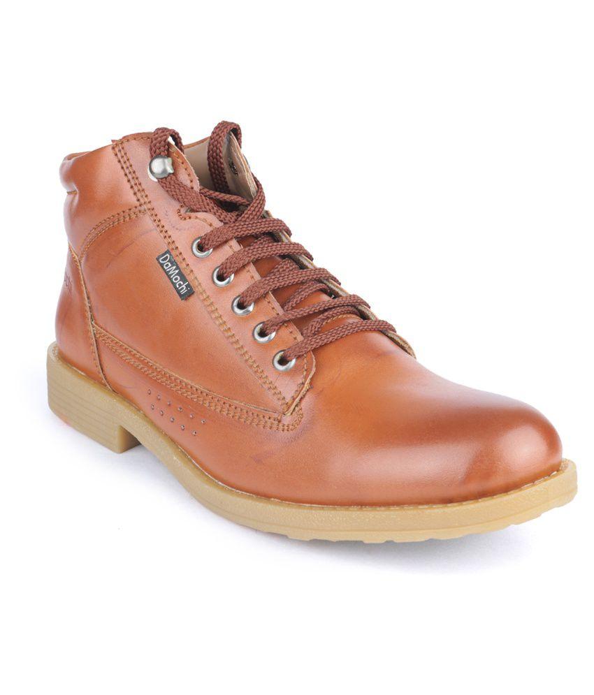 Damochi Tan Lace Boots