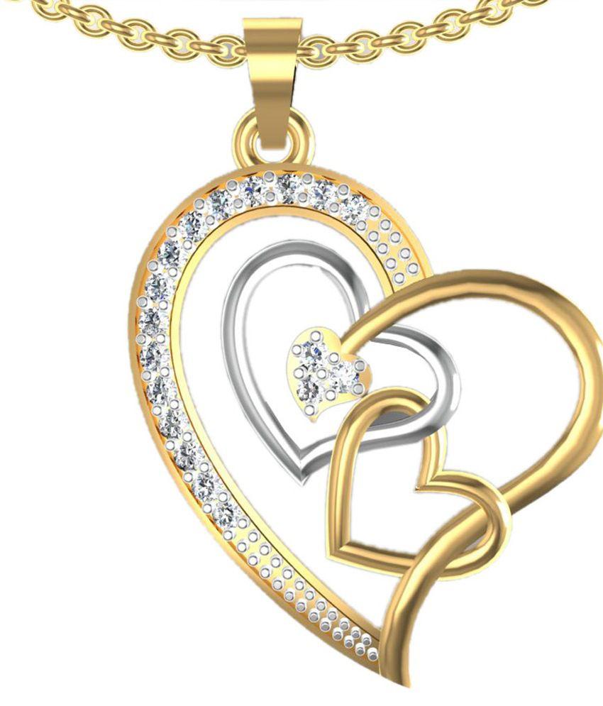 Shruti German Silver American Diamond Designer Pendant Set