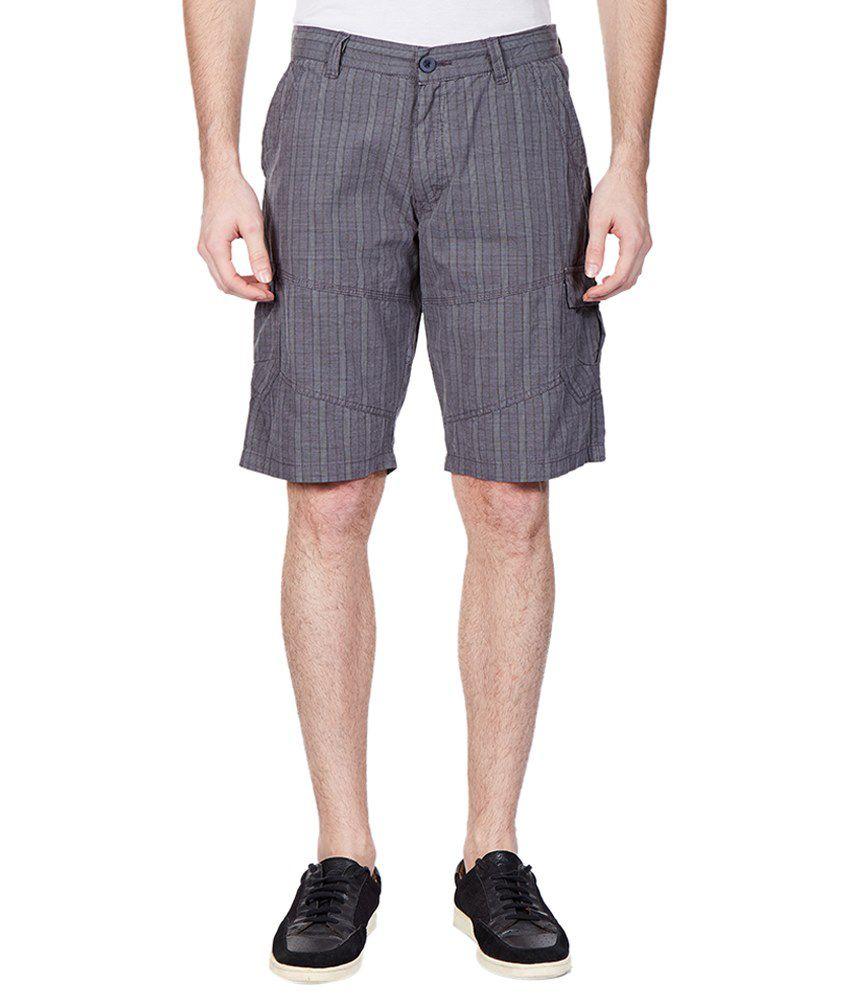Vintage Gray Checkered Shorts