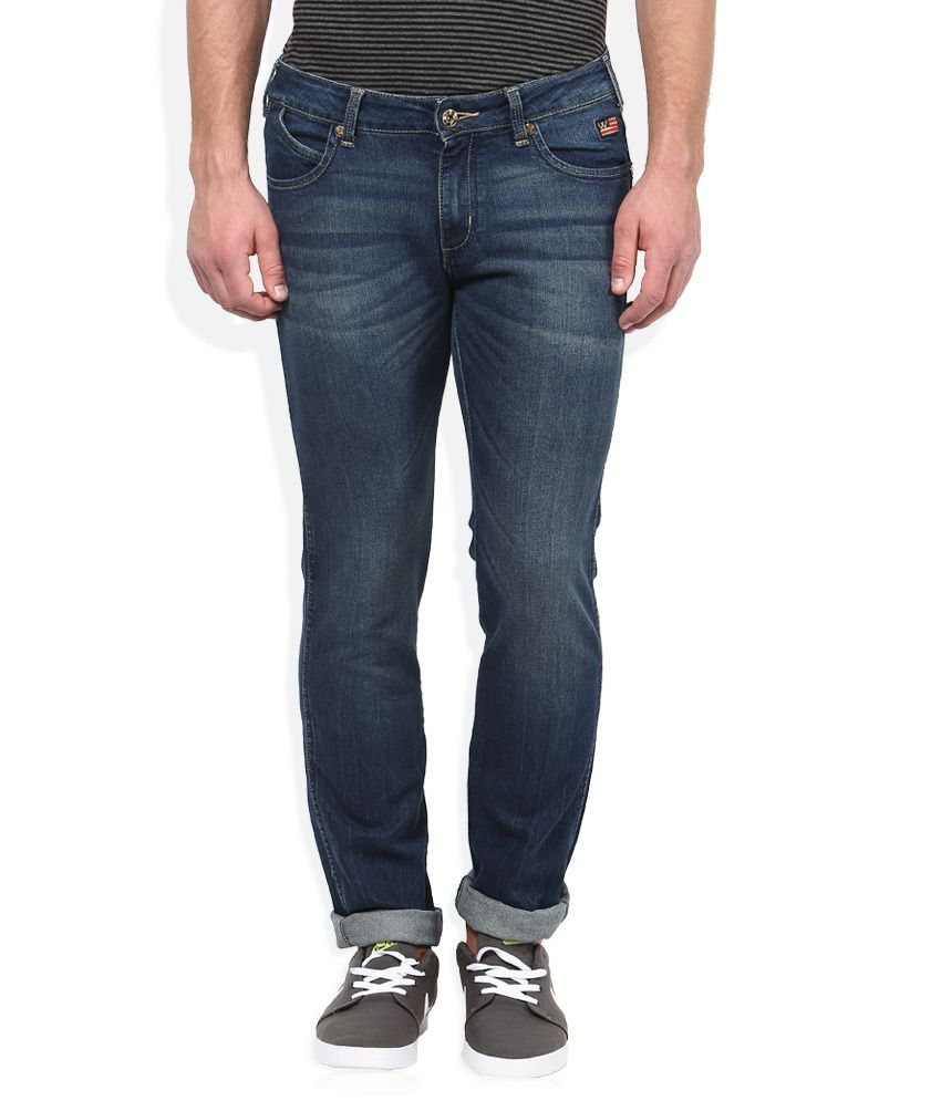 Wrangler Blue Dark Wash Slim Fit Jeans