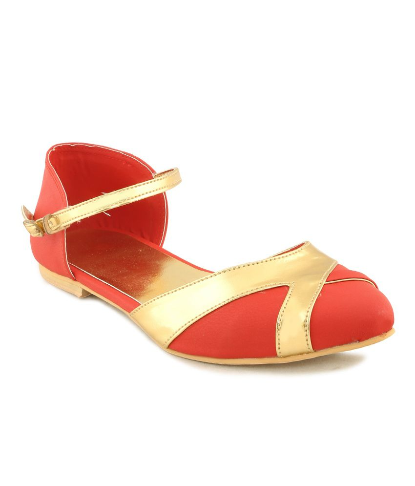 Aava Red Sandals