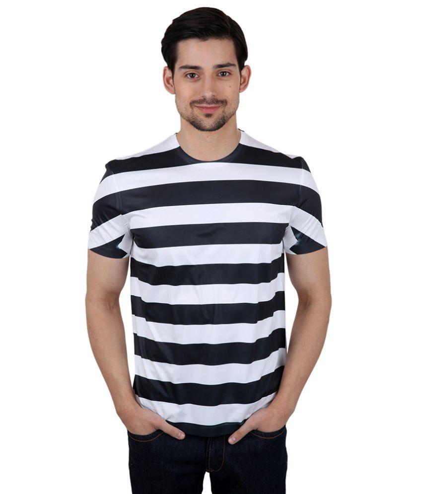 Freecultr Express Blackandwhite Poly Blend T-shirt