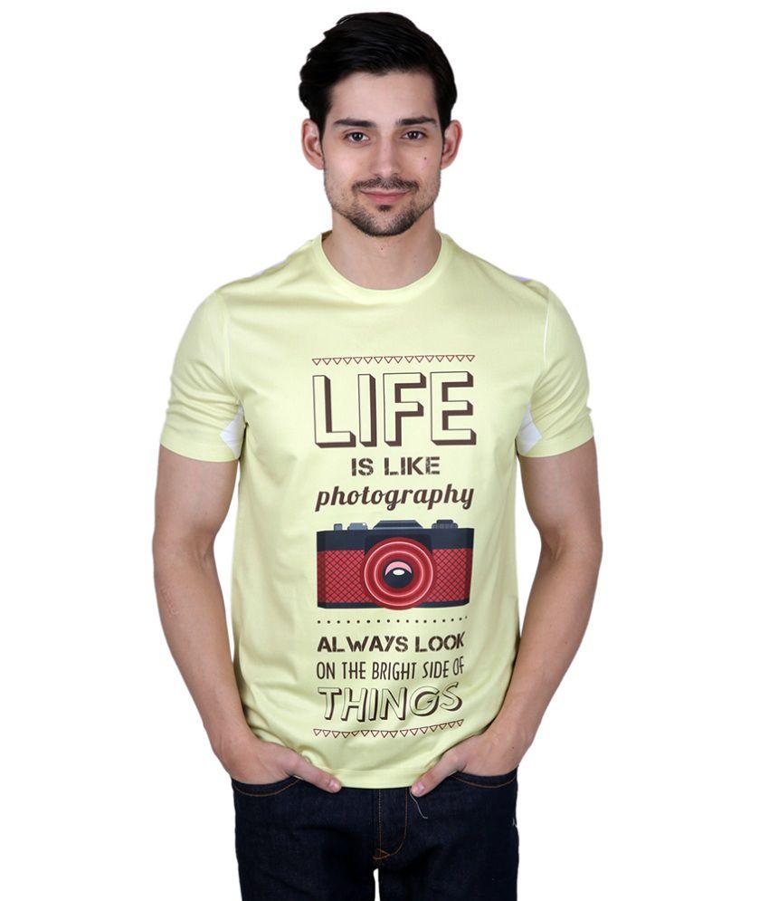 Freecultr Express Yellow Poly Blend T-shirt