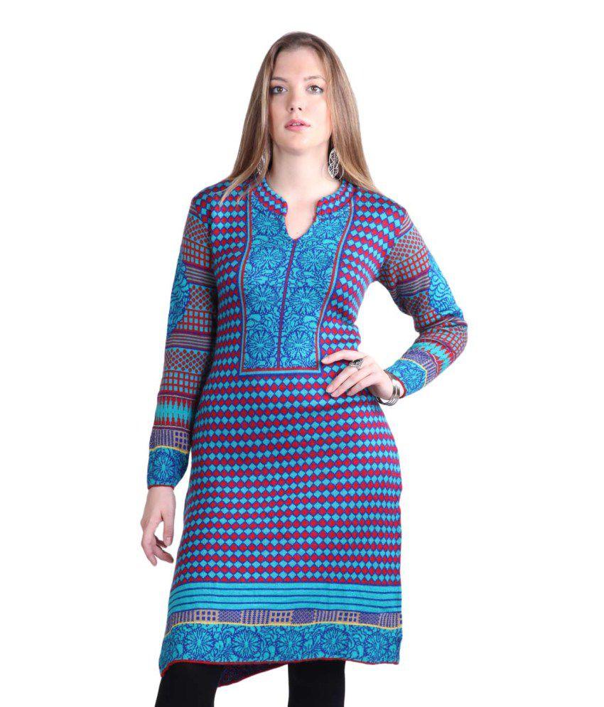 Montrex Blue Woollen Kurti