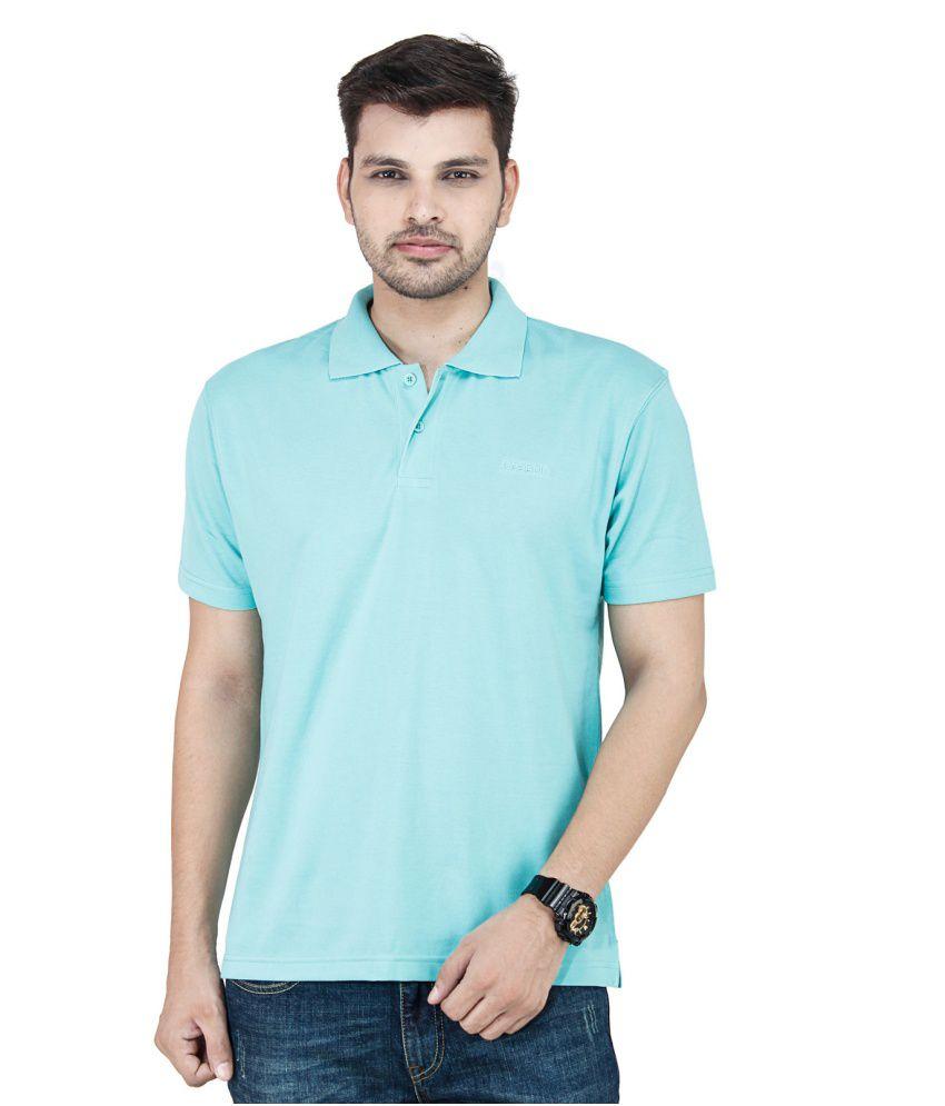 Reebok Green Cotton Blend Polo T - Shirt