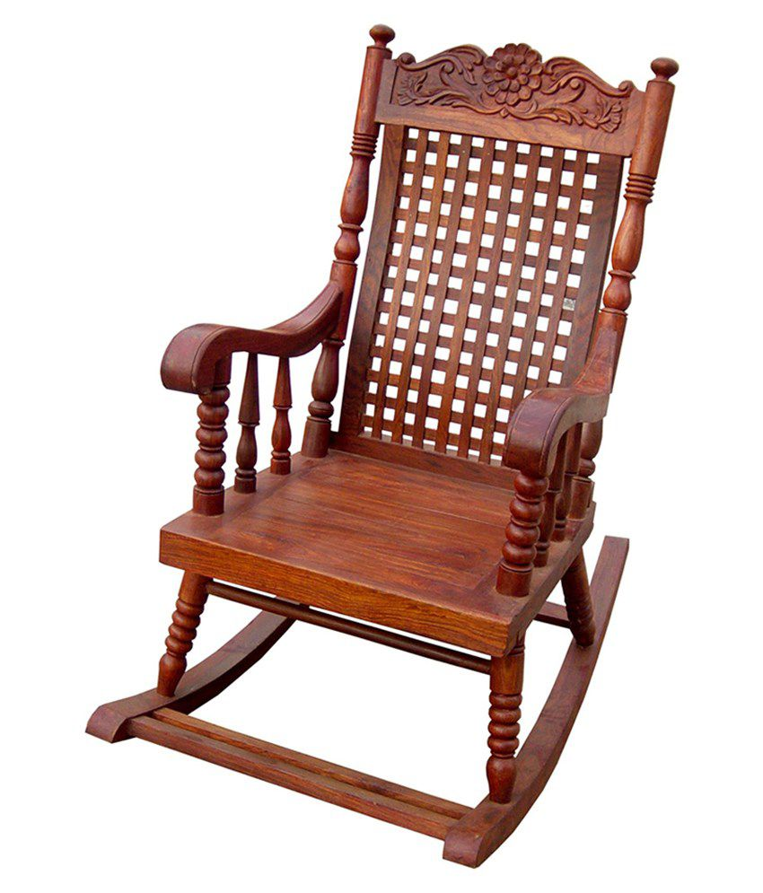 Carving Rocking Chair - Buy LCH Sheesham Wood Carving Rocking Chair ...