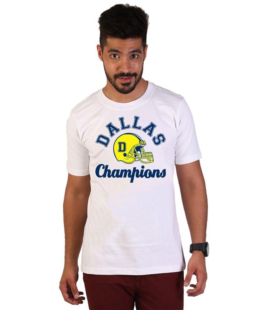 Wicked Bite Design White Cotton Men T-shirt