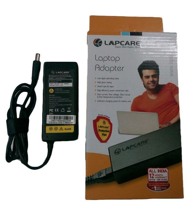 Lapcare Laptop Adapter For Hp Pavillion Dv7 With Actone Power Cord - Black