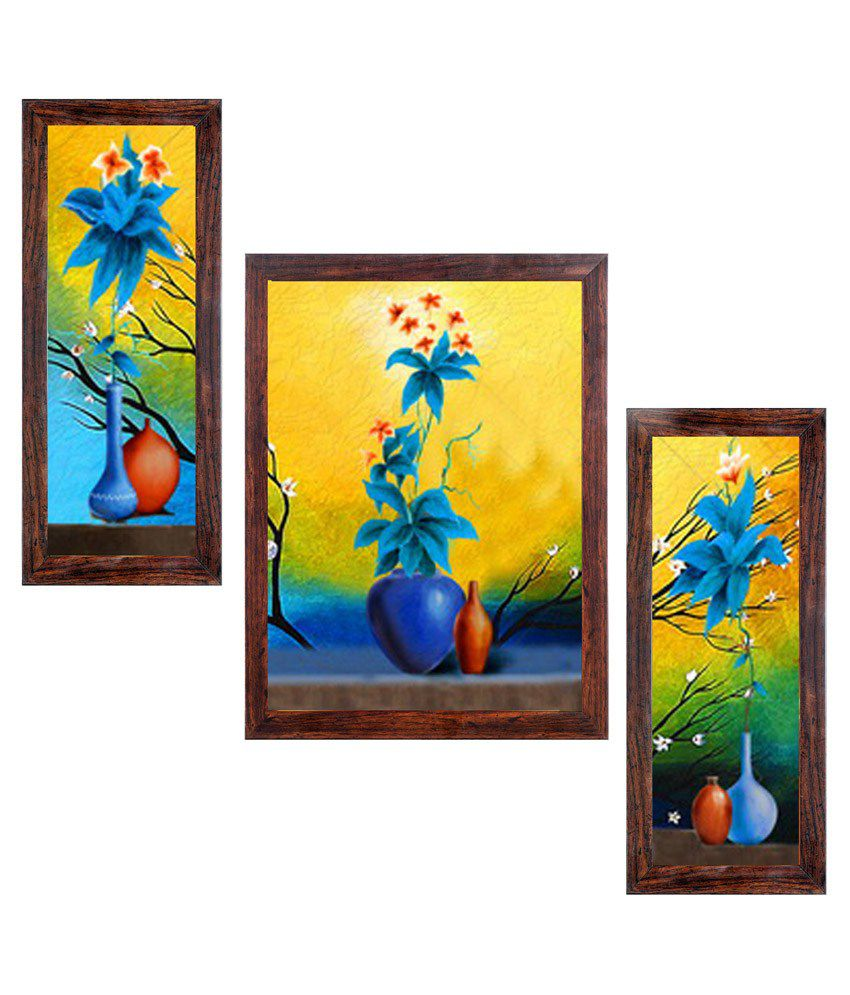 Wall Art Painting With Frame : Ray decor floral wall painting with frame buy