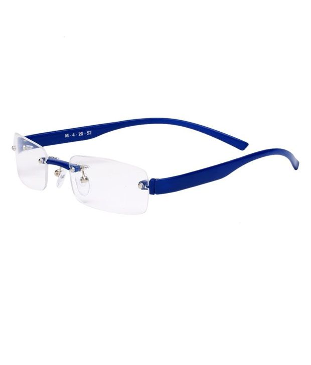 Line Optical Questions : Rose line blue rectangle eyeglasses for women buy