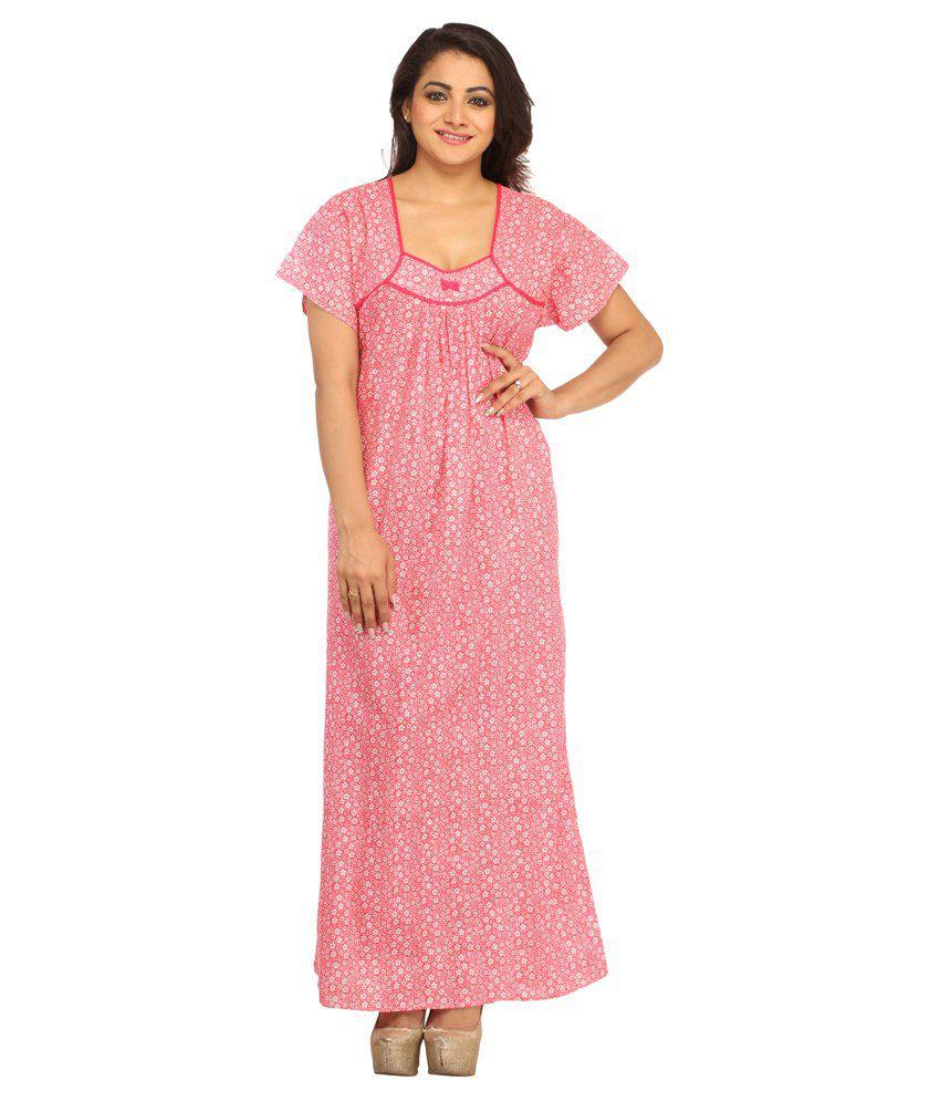 Simrit Pink Cotton Nighty