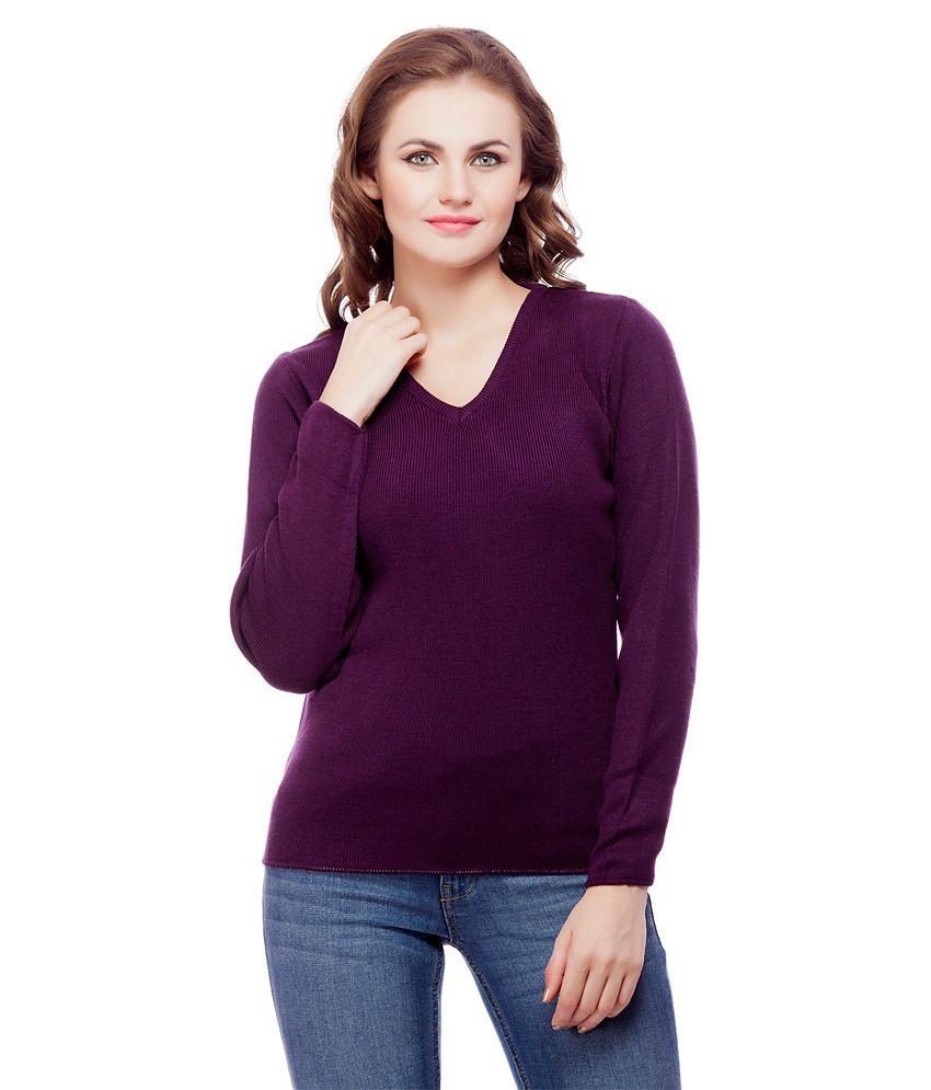 Knitco Purple Acro Wool Pullovers