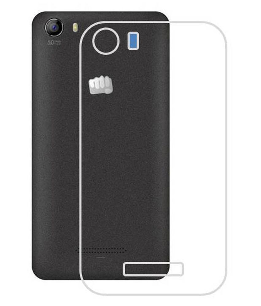 huge discount d8c28 9bfa5 Mirox Back Cover For Micromax Canvas Spark 2 Q334 - Transparent