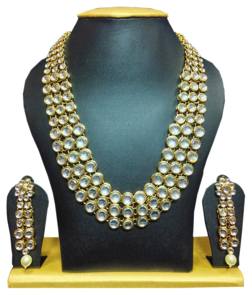 Sewad Gold Plated Kundan Bridal Designer Necklace Set