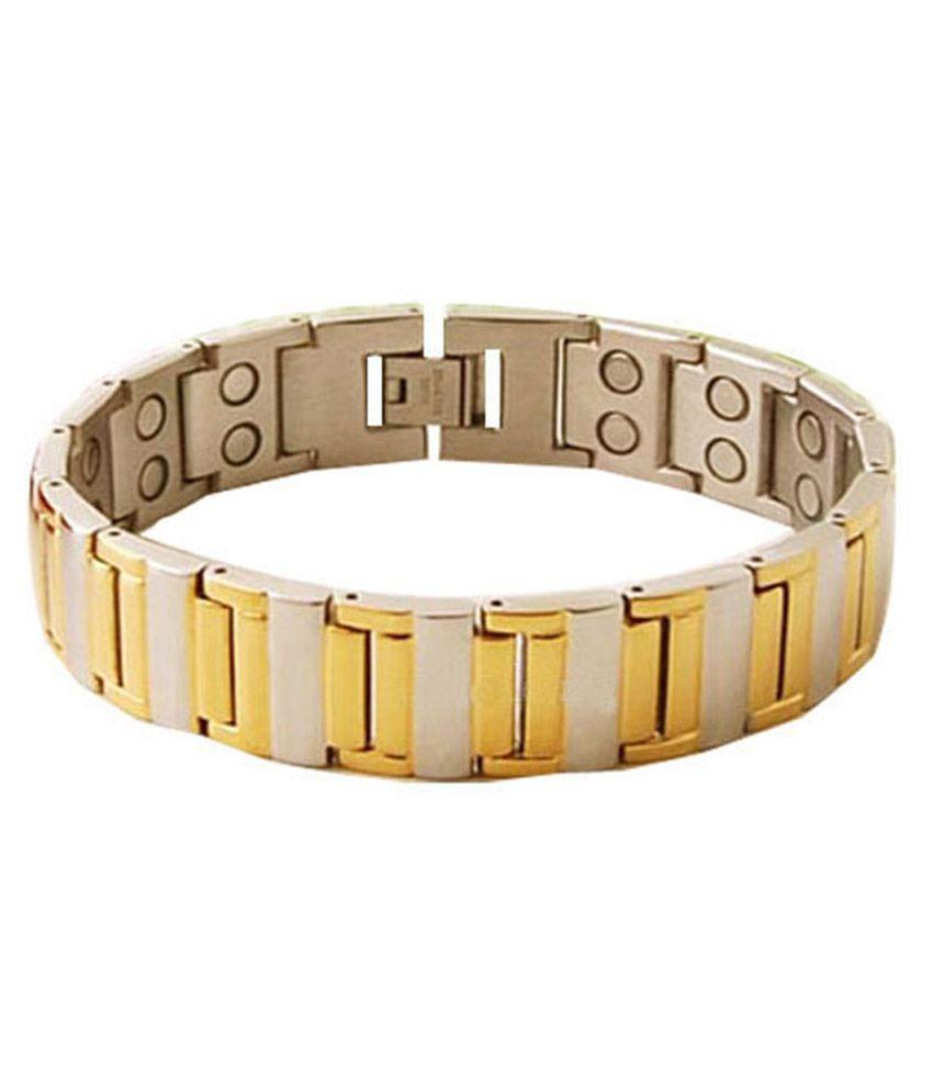 Bio Magnetic Golden Titanium Bracelet