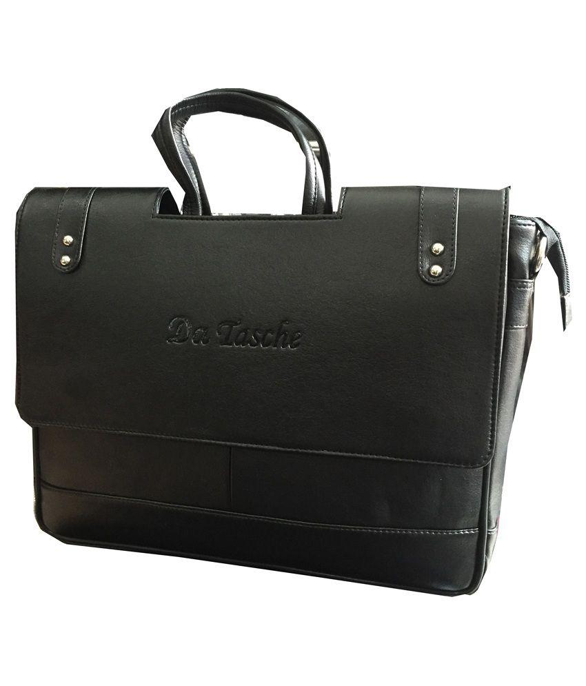 Da Tasche Black Polyester Office Bag