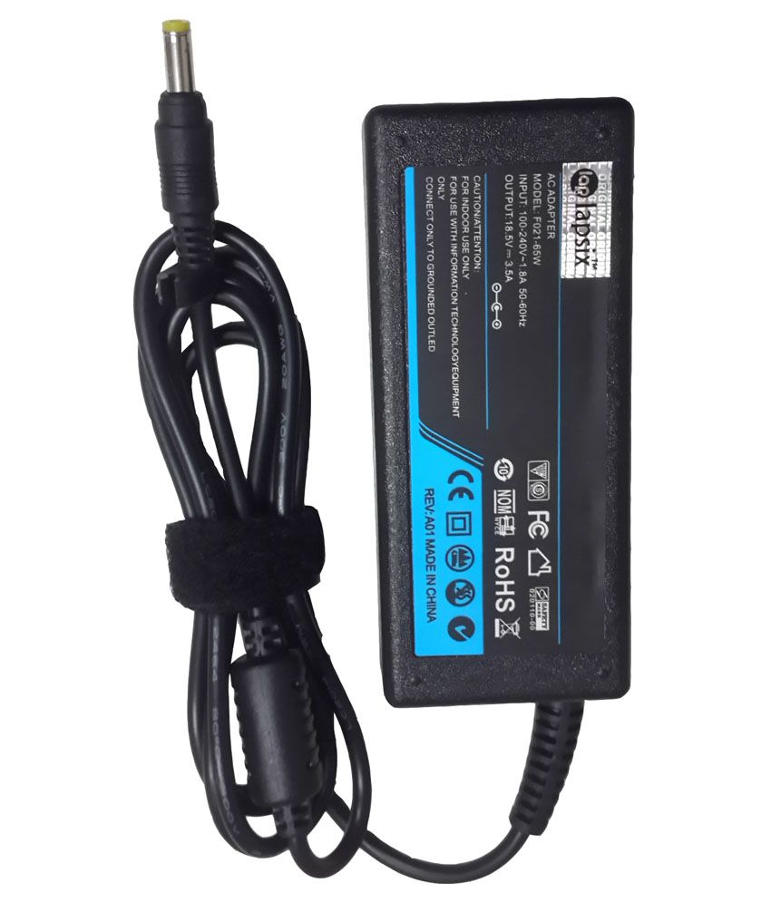 Lapsix Ac 65W Laptop Adapter for Compaq Pavilion DV1004AP 18.5V-3.5A SMALL PIN 65w