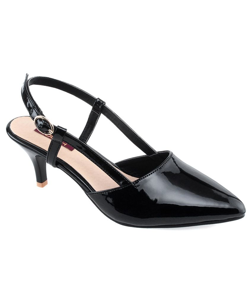 b0124da45 Shuz Touch Black Heeled Sandals Price in India- Buy Shuz Touch Black Heeled  Sandals Online at Snapdeal