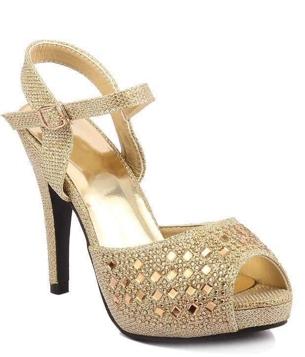 Wellworth Gold Stiletto Heels