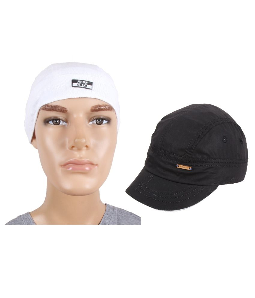 Jstarmart White Polyester Head Wrap With Cap