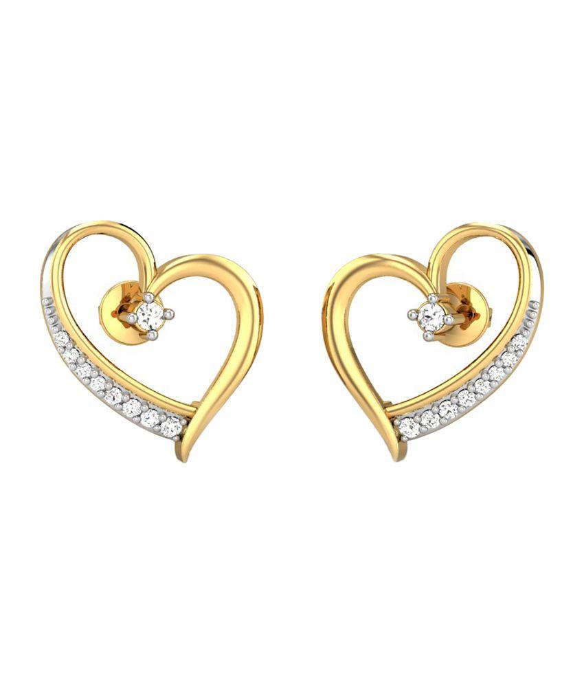 Candere Stella Gold 14K Diamond Earrings