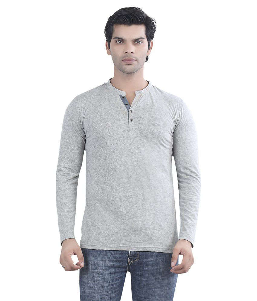 Maniac Grey Cotton T-shirt