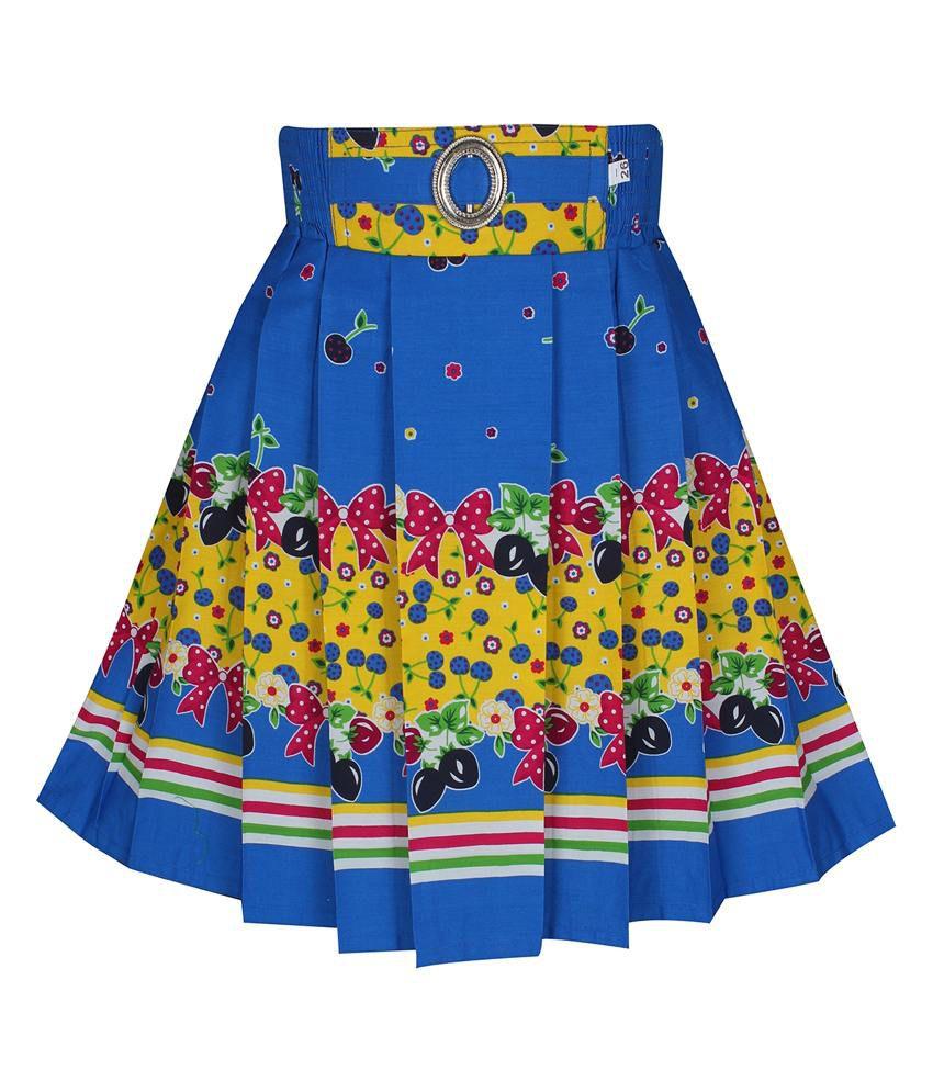 Jazzup Blue Cotton Skirt