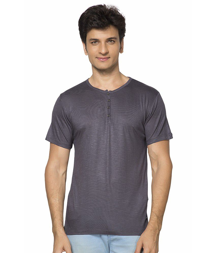 Maniac Grey Cotton Blend T-shirt
