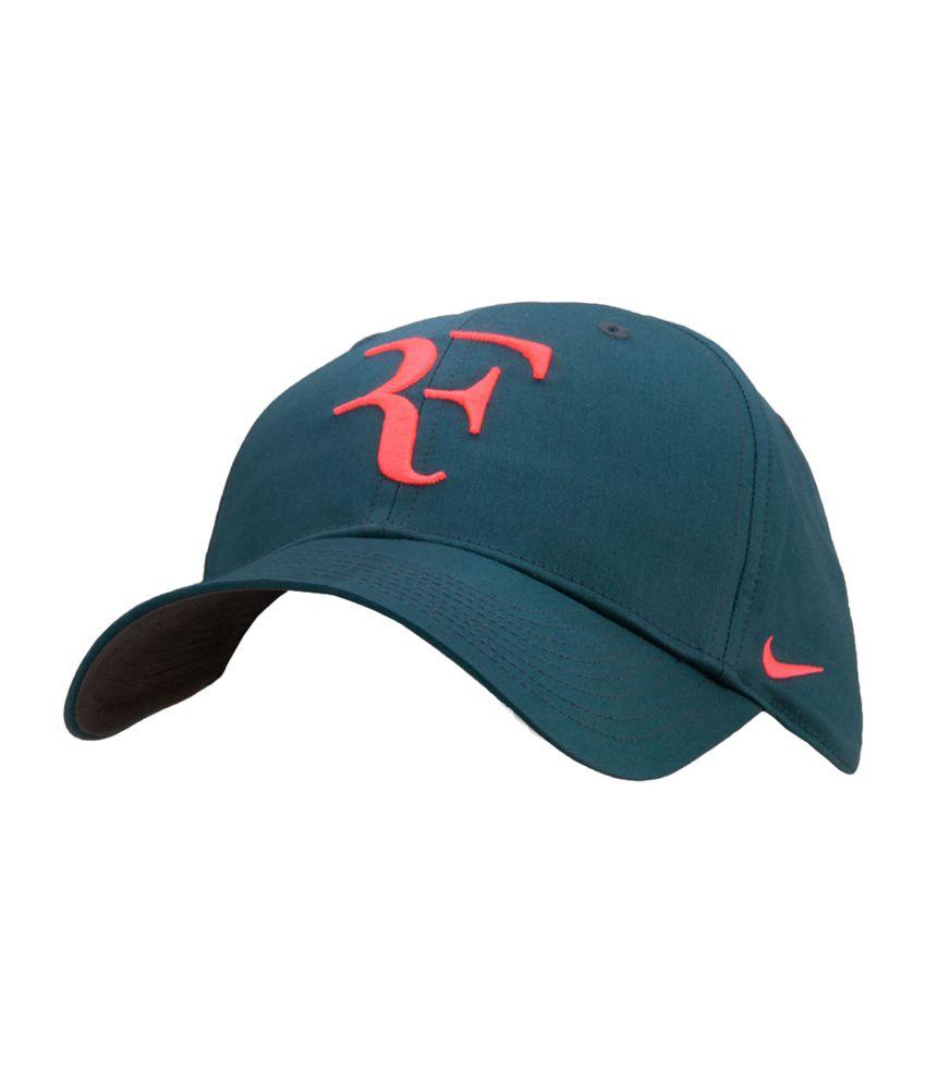 00f09624b7c Nike Roger Federer Unisex Tennis Cap - Green - Buy Online   Rs ...
