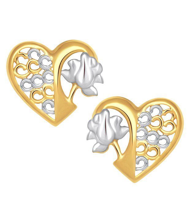 VK Jewels Gold Alloy Studs