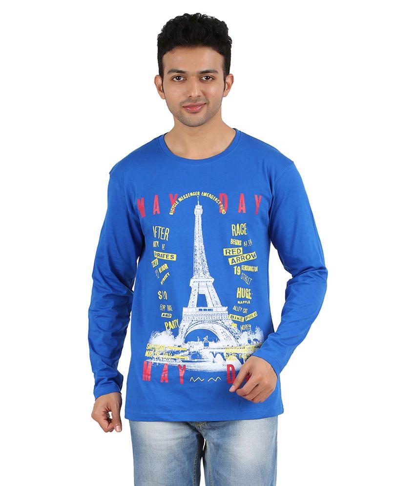 Gravity Plus Blue Cotton T-Shirt