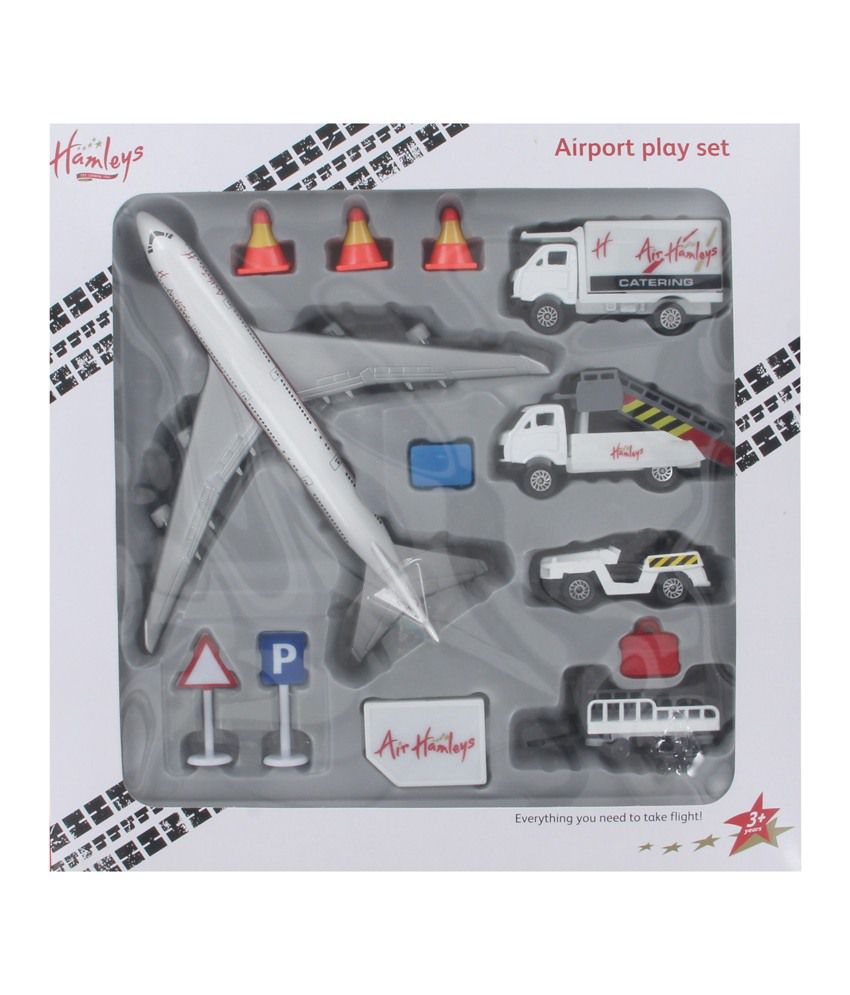 Hamleys Airport Set White and Grey