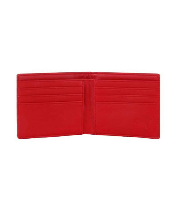 fd0872da1c Puma Ferrari Non Leather Red Formal Wallet For Men: Buy Online at ...
