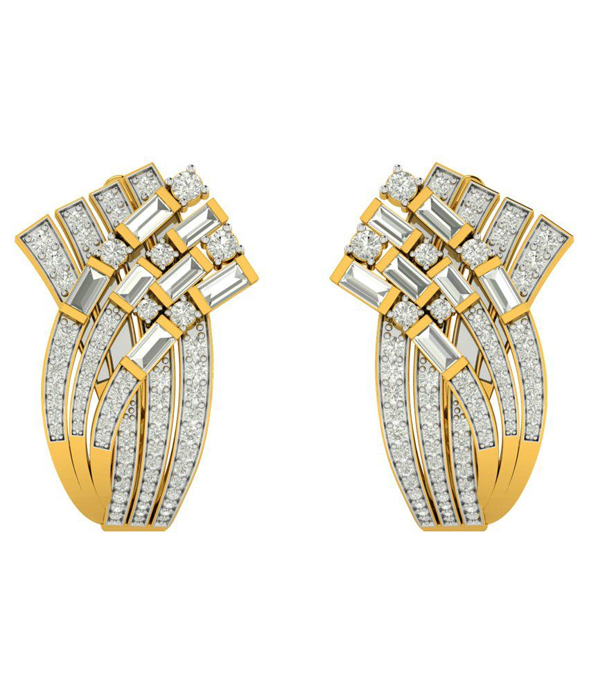 Charu Jewels 18Kt Gold Stud Earrings