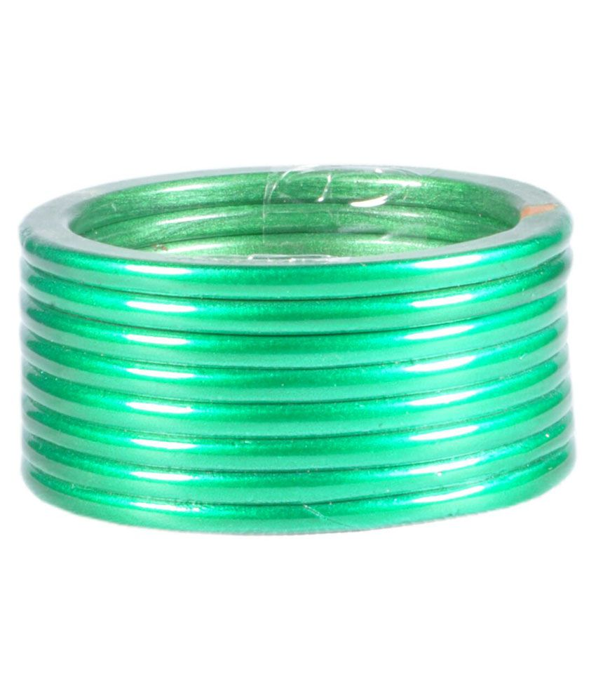 Natraj Handicraft Green Bangles - Set Of 8: Buy Natraj Handicraft ...