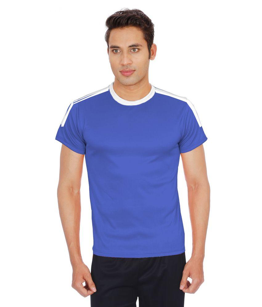 Sportee Blue Polyester T-Shirt